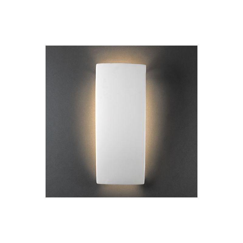 "Justice Design Group CER-5135 Single Light 13.5"" ADA Rectangle Sale $90.27 ITEM: bci1731591 ID#:CER-5135-BIS UPC: 784689143080 :"