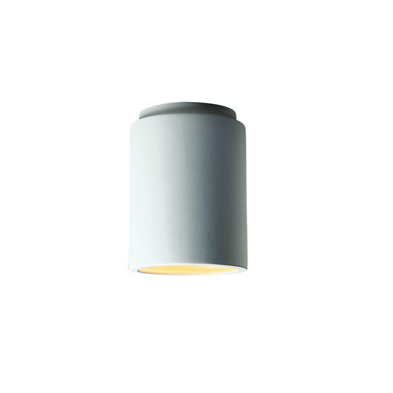 bis bisque single light 8 5 exterior cylinder flushmount fixture