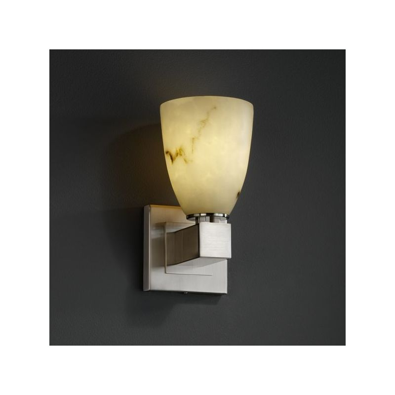 Wall Sconces Without Lights : Justice Design Group CLD-8705-NCKL Brushed Nickel Aero One Light Wall Sconce without Arms from ...