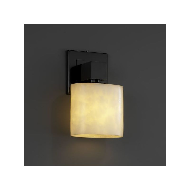 Wall Sconces Without Lights : Justice Design Group CLD-8707-30-MBLK Matte Black Aero ADA One Light Wall Sconce without Arms ...