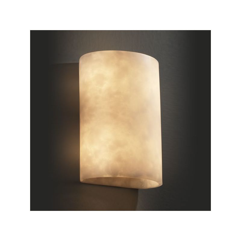Justice design group cld 8858 n a ada medium cylinder wall - Cylindrical wall sconce ...