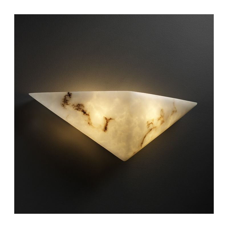 Justice Design Group FAL-5140 Faux Alabaster Alabaster Stone / Glass Wall Washer Sconce from the ...