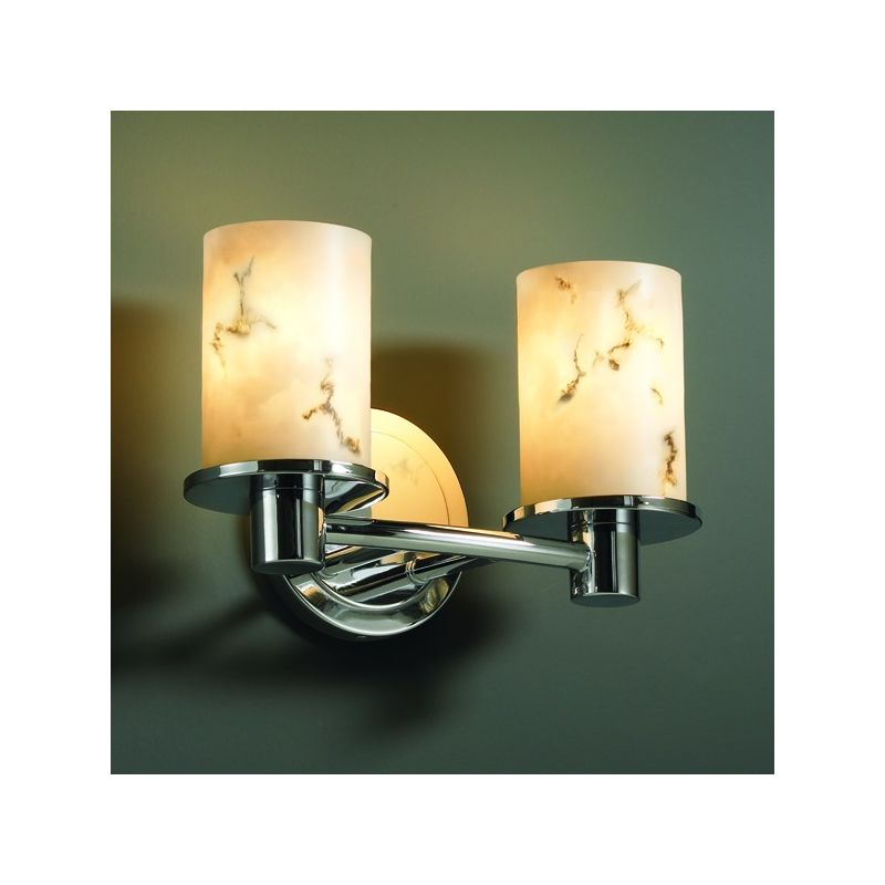 Justice Design Group FAL-8512 Rondo 2 Light Bathroom Bar Fixture from