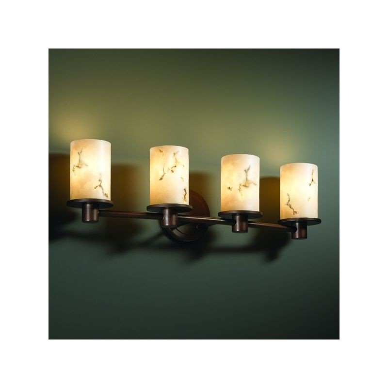 Justice Design Group FAL-8514 Rondo 4 Light Bathroom Bar Fixture from