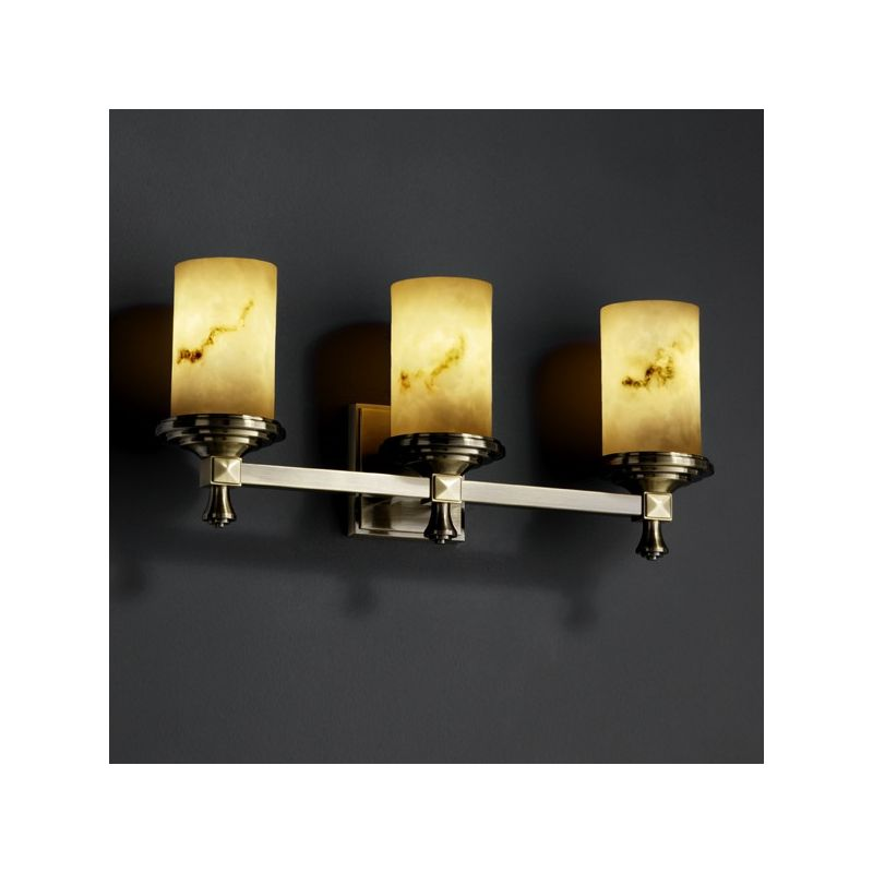 Justice Design Group FAL-8533 Deco 3 Light Bathroom Bar Fixture from