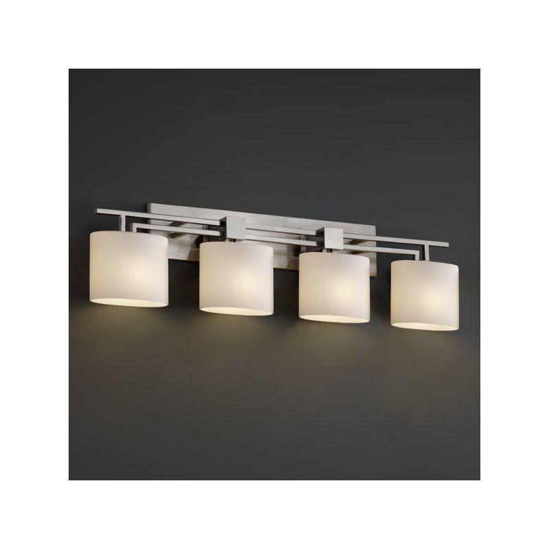 Justice design group fsn 8704 nckl brushed nickel aero 4 light bathroom bar fixture from the - Justice design group bathroom lighting ...