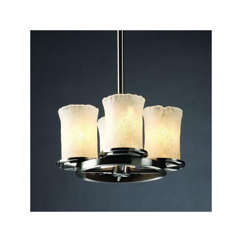 Justice Design Group GLA-8765 Dakota 4 Light Ring Chandelier from the