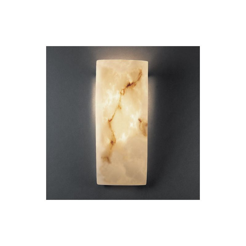 Justice Design Group FAL-5135 1 Light Faux Alabaster Wall Washer