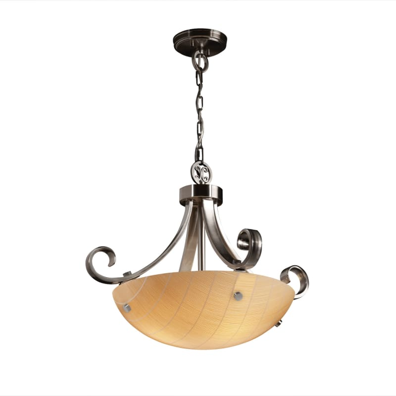 "Justice Design Group 3FRM-9741-35-TAKE-F1 3Form 18"" Round Bowl Pendant"