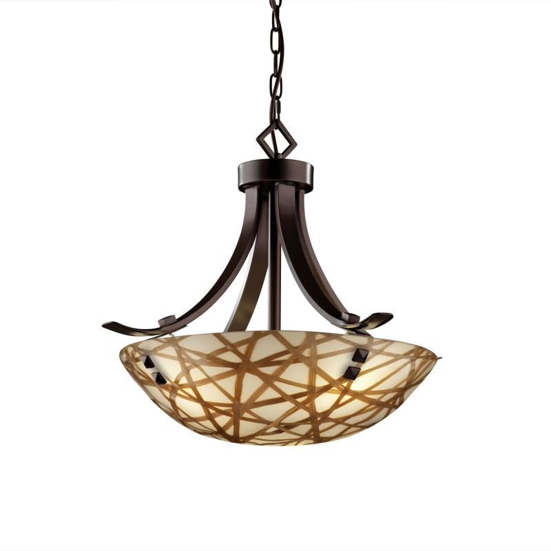 "Justice Design Group 3FRM-9751-35-CONN-F3 3Form 18"" Round Bowl Pendant"