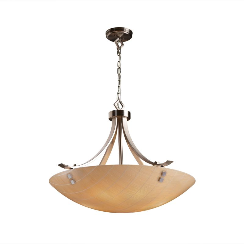 "Justice Design Group 3FRM-9752-35-TAKE-F2 3Form 24"" Round Bowl Pendant"