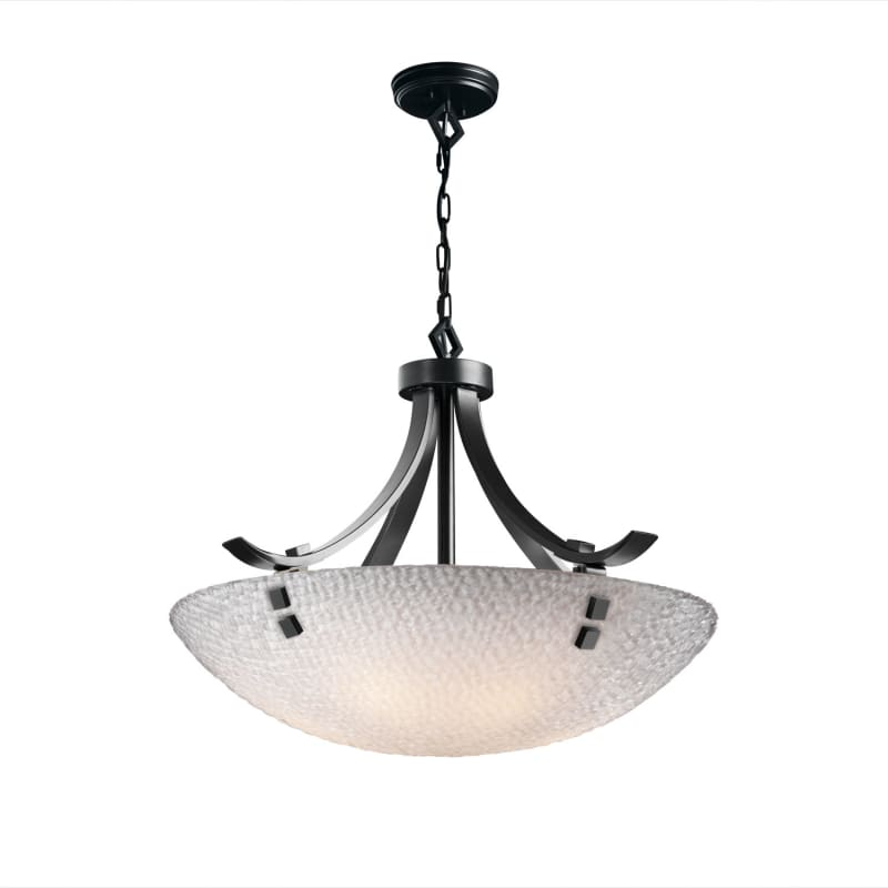 "Justice Design Group 3FRM-9752-35-TILE-F2 3Form 24"" Round Bowl Pendant"