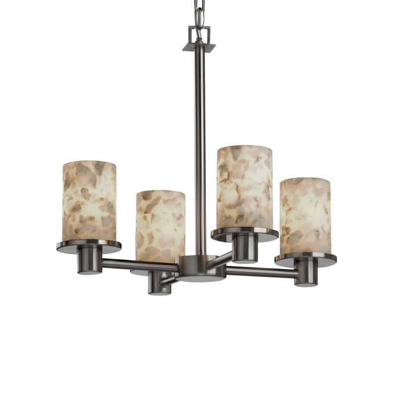 Justice Design Group ALR-8510 Rondo 4 Light Up Lighting Chandelier