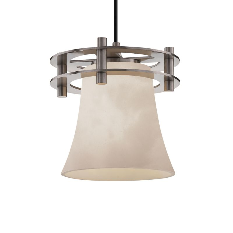 Justice Design Group CLD-8265-20-BKCD Clouds 1 Light Single Pendant