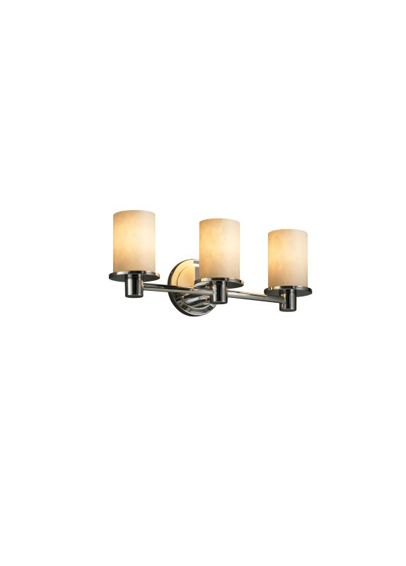 Justice Design Group CLD-8513 Rondo 3 Light Bathroom Bar Fixture from