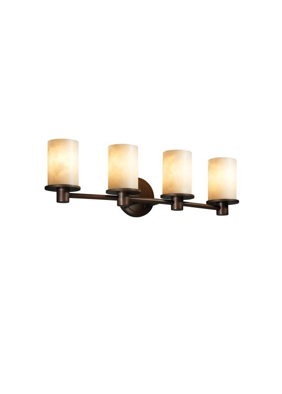 Justice Design Group CLD-8514 Rondo 4 Light Bathroom Bar Fixture from