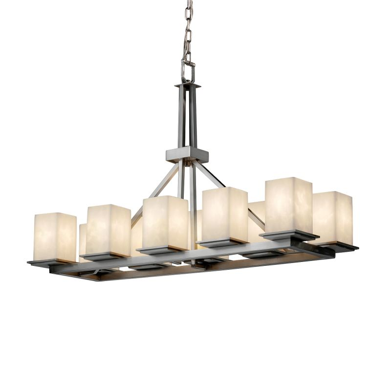 Justice Design Group CLD-8650-15 Clouds 10 Light 1 Tier Chandelier