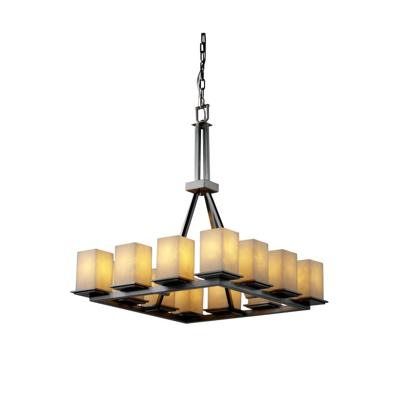 Justice Design Group CLD-8663-15 Clouds 12 Light 1 Tier Chandelier
