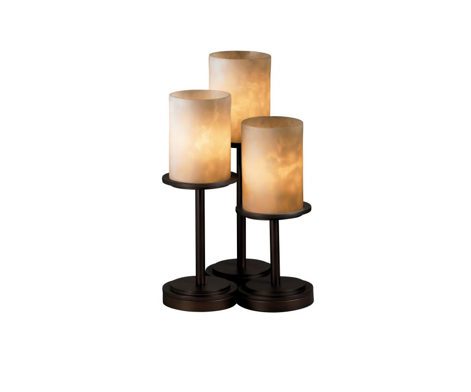 Justice Design Group CLD-8797 Dakota 3 Light Table Lamp with Resin