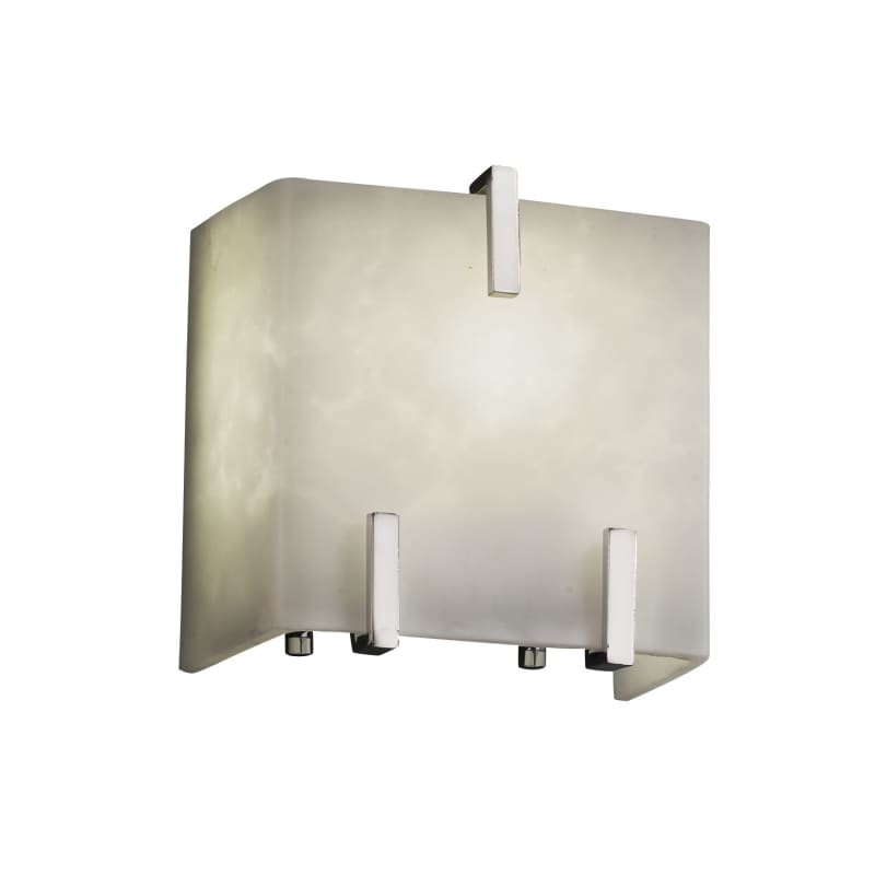"""Justice Design Group CLD-8871 Clouds 6"""" Clips ADA Compliant Wall"""