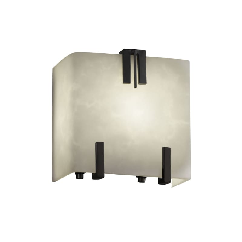 """Justice Design Group CLD-8881 Clouds 6"""" Clips ADA Compliant Wall"""