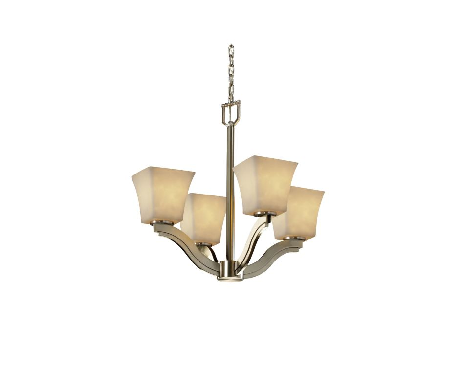 Justice Design Group CLD-8970-40 Clouds 4 Light 1 Tier Chandelier
