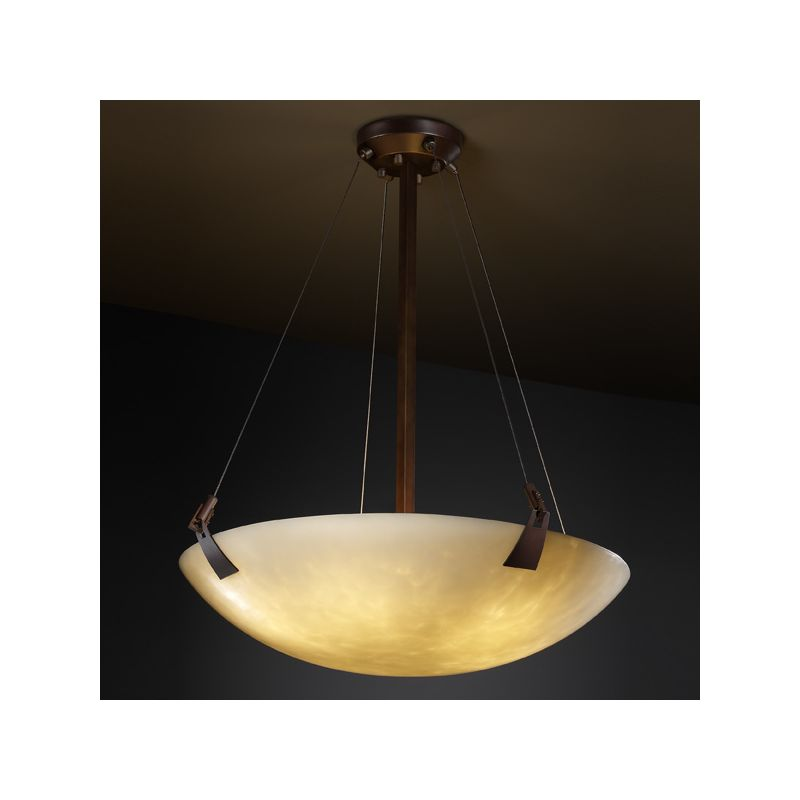 "Justice Design Group CLD-9644-35 Clouds 39"" Tapered Clips 8 Light Sale $2123.30 ITEM: bci2946977 ID#:CLD-9644-35-DBRZ :"