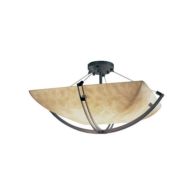 "Justice Design Group CLD-9717-25-LED-6000 Clouds 55"" Wide Bowl LED"