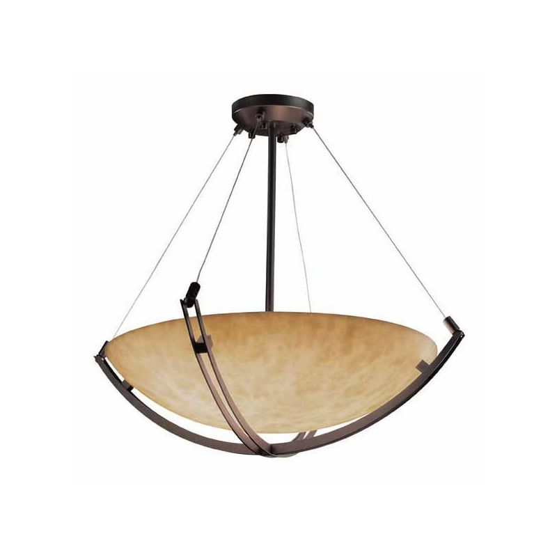 "Justice Design Group CLD-9724-35 Clouds 36"" Round Bowl Pendant Dark"
