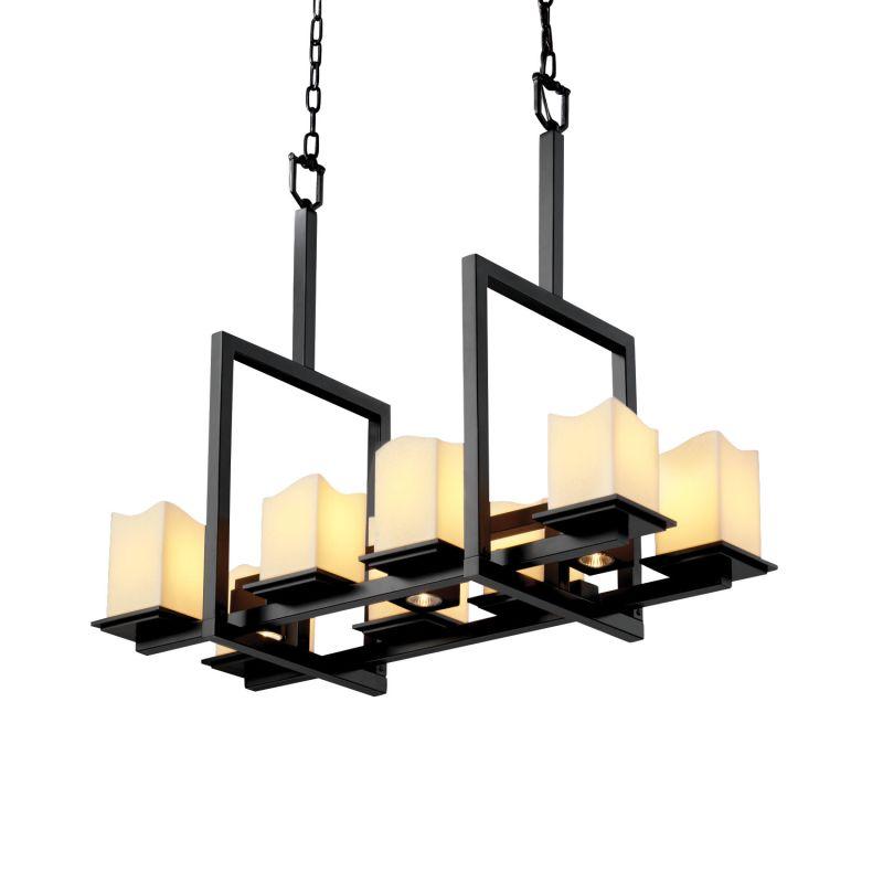 Justice Design Group CNDL-8618-19-CREM CandleAria 11 Light 1 Tier