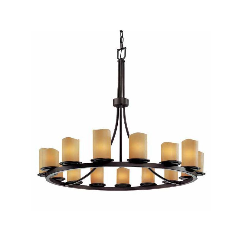 Justice Design Group CNDL-8715-14-AMBR CandleAria 15 Light 1 Tier