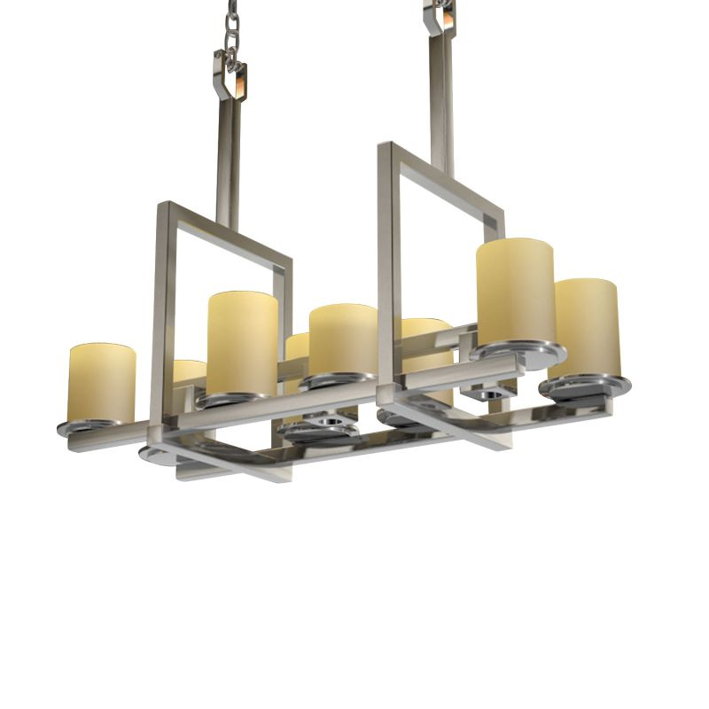 Justice Design Group CNDL-8718-10-CREM CandleAria 11 Light 1 Tier