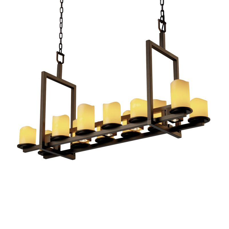 Justice Design Group CNDL-8720-14-AMBR CandleAria 17 Light 1 Tier