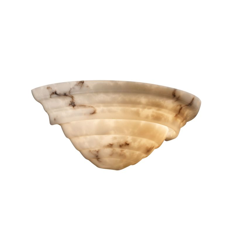 "Justice Design Group FAL-1555 LumenAria 16"" Wall Sconce Faux Alabaster"