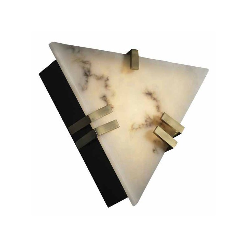 Justice Design Group FAL-5552 Clips ADA Compliant Triangle Wall Sconce