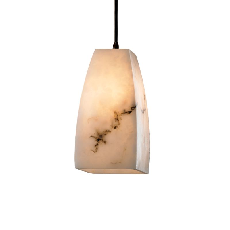 Justice Design Group FAL-8816-65 Alabaster Stone / Glass Single Light