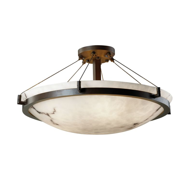 "Justice Design Group FAL-9682 24"" Round Semi-Flush Bowl Ceiling"