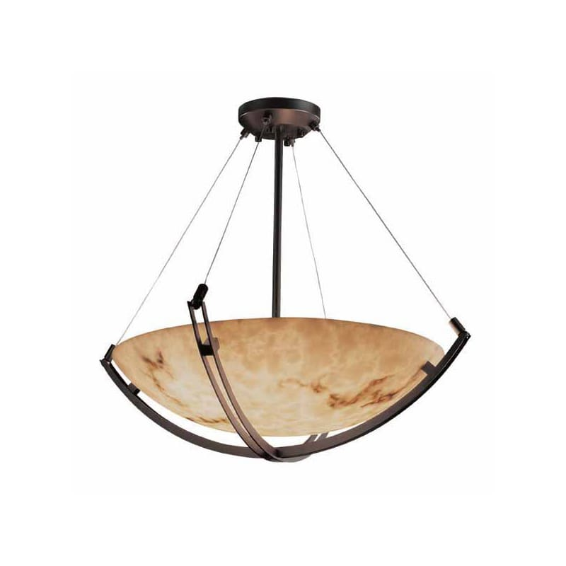 "Justice Design Group FAL-9729 60"" Bowl Pendant with Crossbar from the"