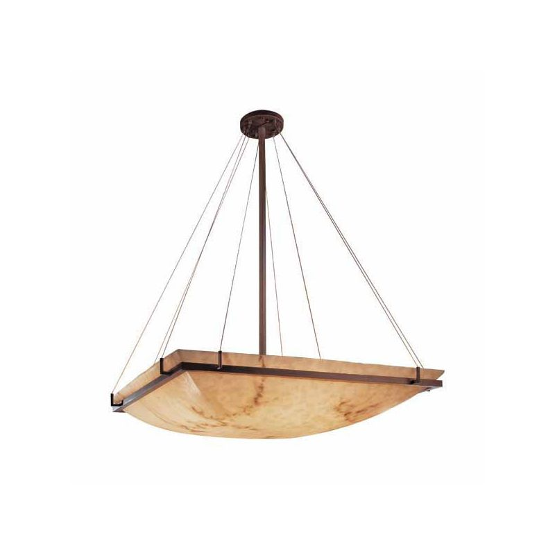 "Justice Design Group FAL-9797-25 LumenAria 53"" Wide Bowl Pendant Dark"