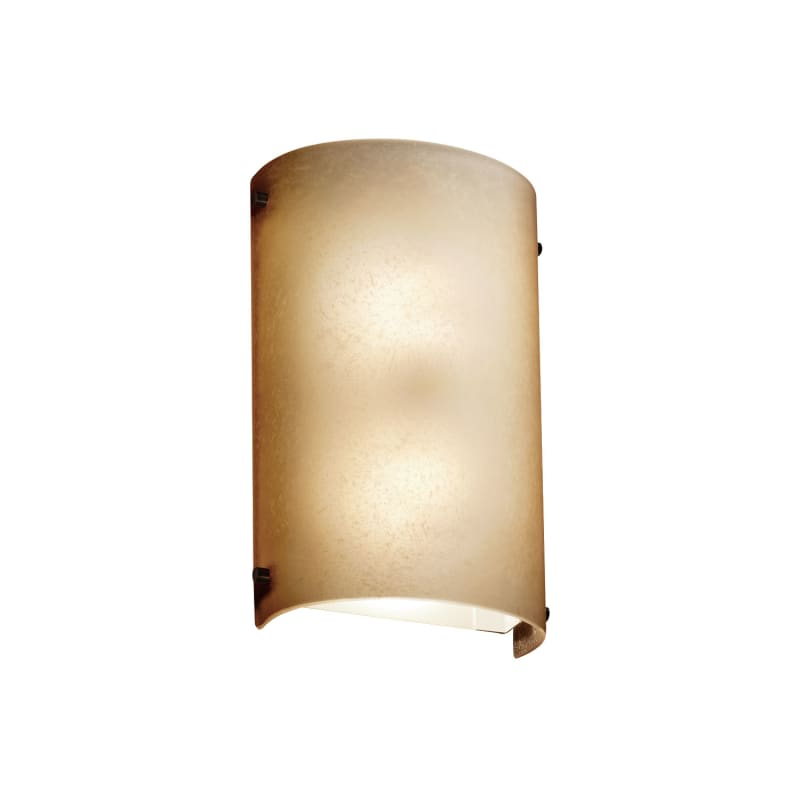 "Justice Design Group FSN-5541-CRML Fusion 8"" Finials 2 Light ADA Wall"