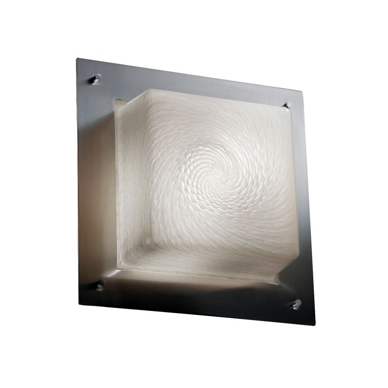 "Justice Design Group FSN-5565-WEVE-LED-2000 Fusion Collection 12"" Wide"
