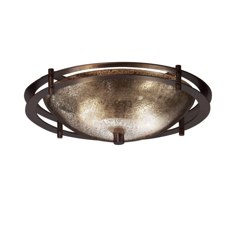 """Justice Design Group FSN-8150-35-MROR Fusion 14"""" Round Bowl Semi Flush"""