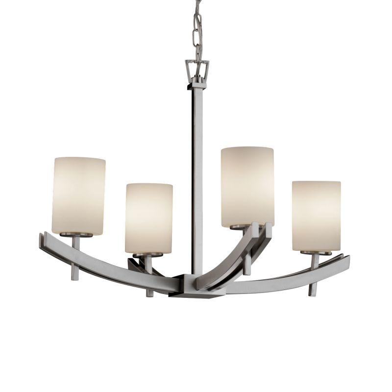 Justice Design Group FSN-8590-10-OPAL Fusion 4 Light 1 Tier Chandelier Sale $467.50 ITEM: bci2583678 ID#:FSN-8590-10-OPAL-NCKL :