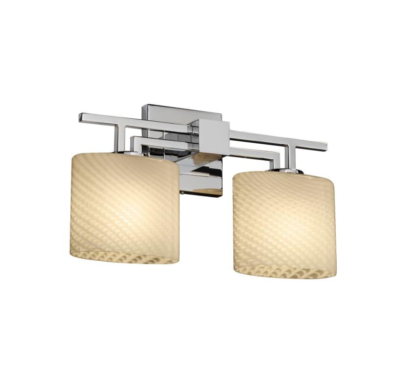 "Justice Design Group FSN-8702-30-WEVE Fusion 16.5"" Aero 2 Light Sale $238.00 ITEM: bci2863542 ID#:FSN-8702-30-WEVE-CROM UPC: 784689430906 :"