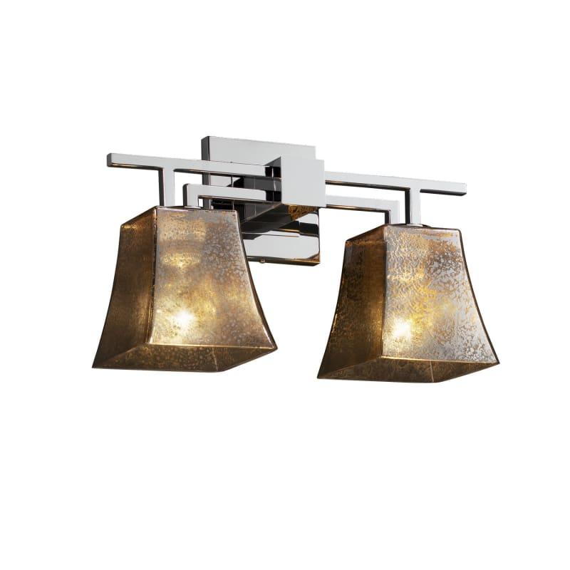"Justice Design Group FSN-8702-40-MROR Fusion 16"" Aero 2 Light Bathroom Sale $238.00 ITEM: bci2863546 ID#:FSN-8702-40-MROR-CROM UPC: 784689430982 :"