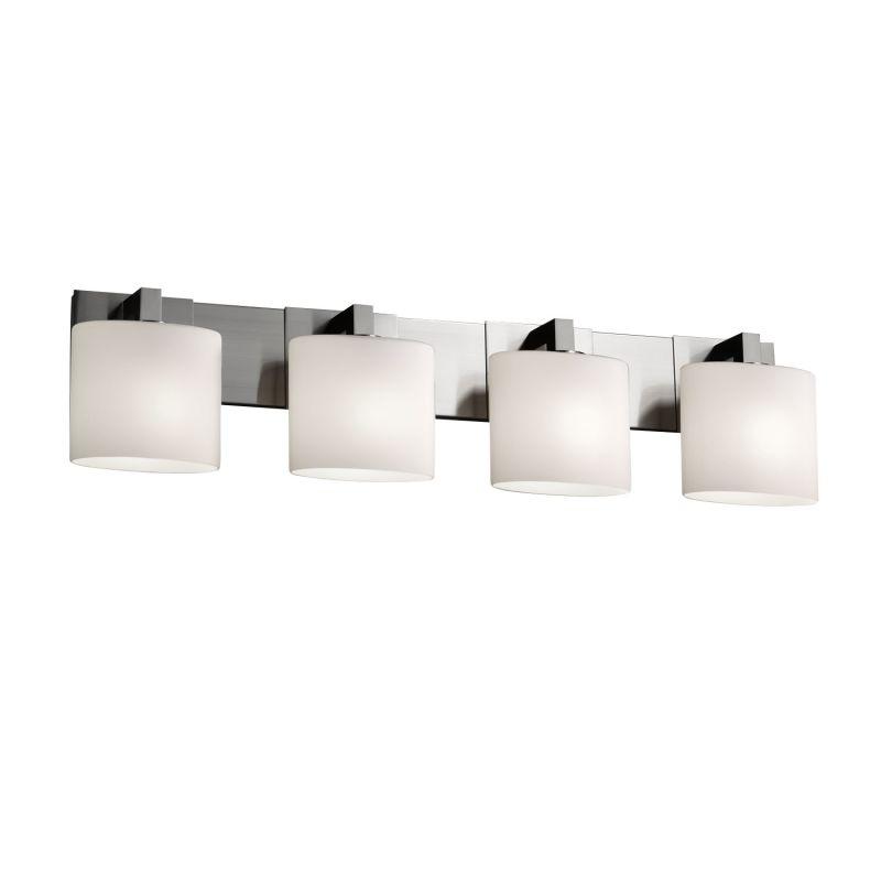 "Justice Design Group FSN-8924-30-OPAL Fusion 35.25"" Modular 4 Light"