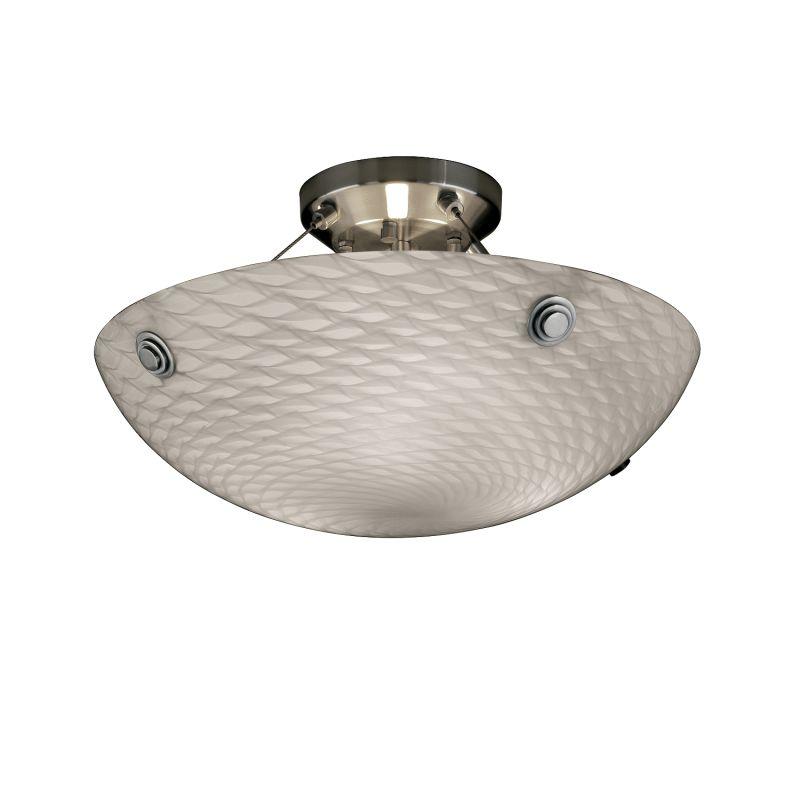 "Justice Design Group FSN-9651-35-WEVE-F6-LED-3000 Fusion 18"" Round Sale $595.00 ITEM: bci2857783 ID#:FSN-9651-35-WEVE-NCKL-F6-LED3-3000 :"