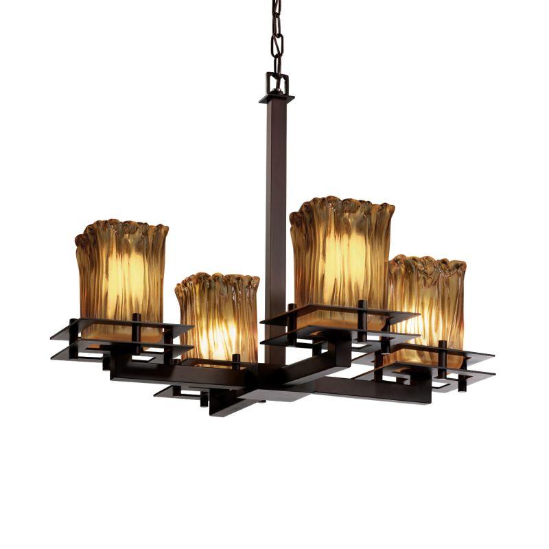 Justice Design Group GLA-8100-26-AMBR Veneto Luce 4 Light 1 Tier Sale $644.30 ITEM: bci2583772 ID#:GLA-8100-26-AMBR-DBRZ :