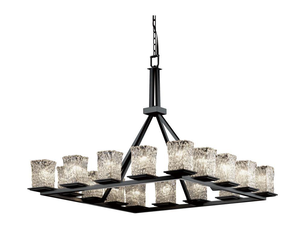 Justice Design Group GLA-8615-26-CLRT Veneto Luce 16 Light 1 Tier Sale $2890.00 ITEM: bci2858821 ID#:GLA-8615-26-CLRT-MBLK UPC: 784689534987 :