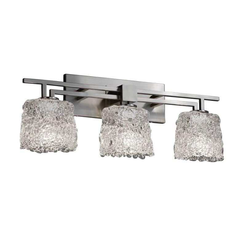 """Justice Design Group GLA-8703-30-LACE Veneto Luce 6.5"""" Oval Bathroom Sale $374.00 ITEM: bci2872334 ID#:GLA-8703-30-LACE-NCKL UPC: 784689912891 :"""